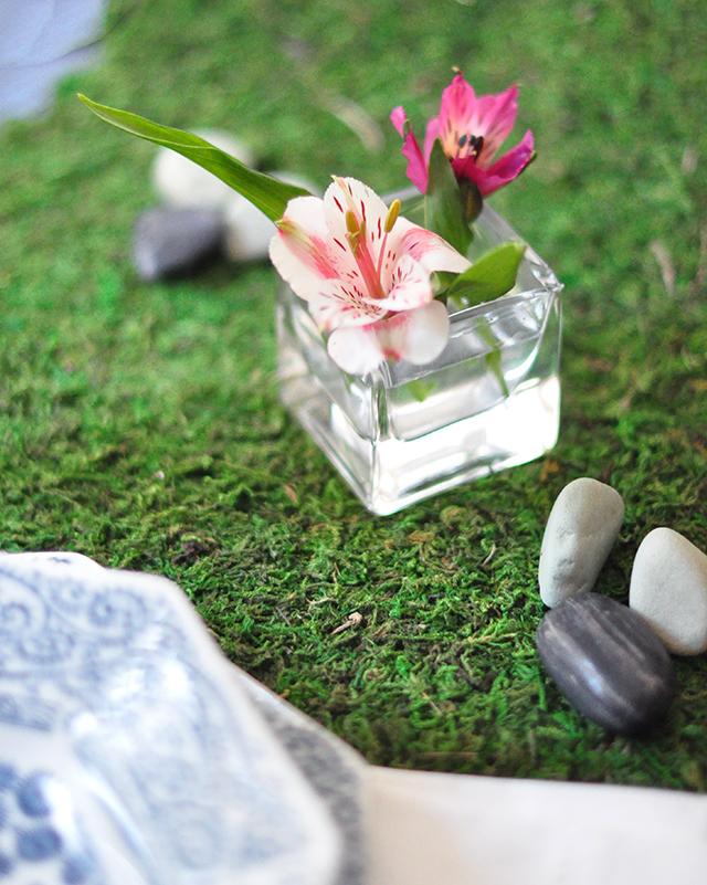 Tiny floral arrangements