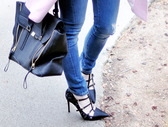 Tory Burch strappy lace pointed pumps