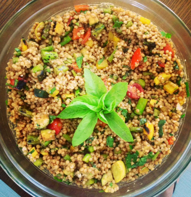 Vegan Israeli Couscous with Grilled Vegetables-2