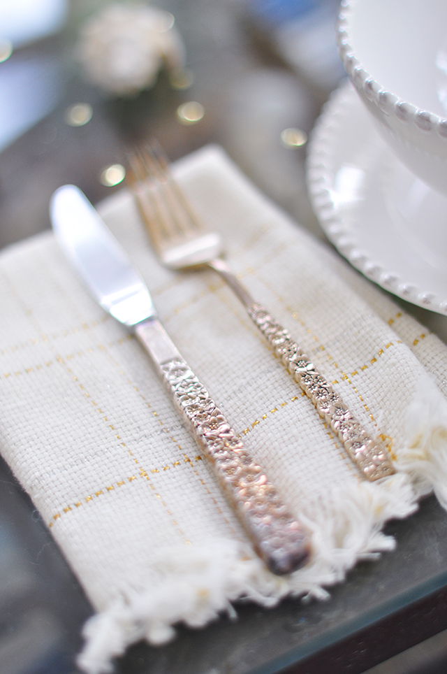 Vintage tarnished silverware_summer tablescape