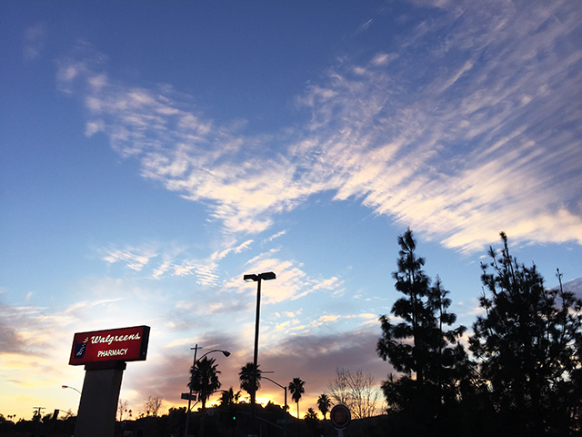 Walgreens sign with Sunset_
