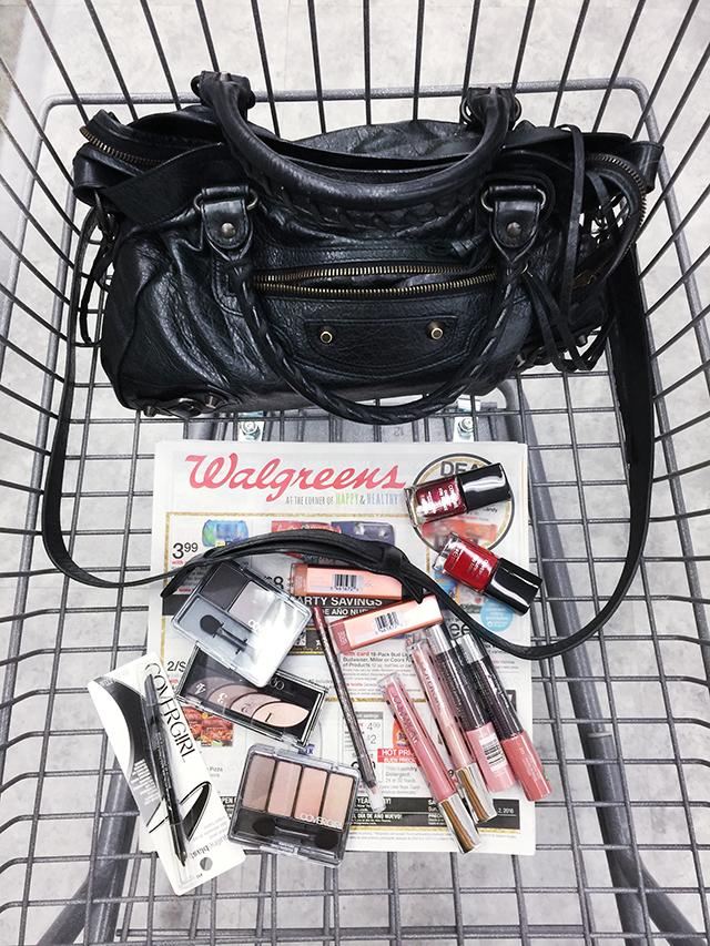 Walgreens_Covergirl_Balenciaga bag in cart