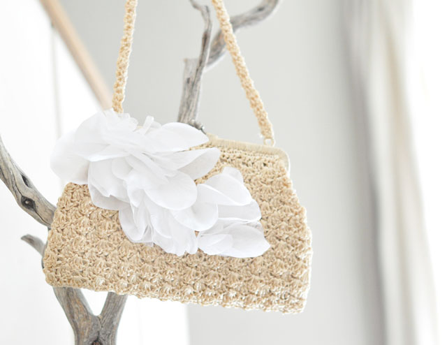 Wedding Petal Purse-bag-clutch- DIY