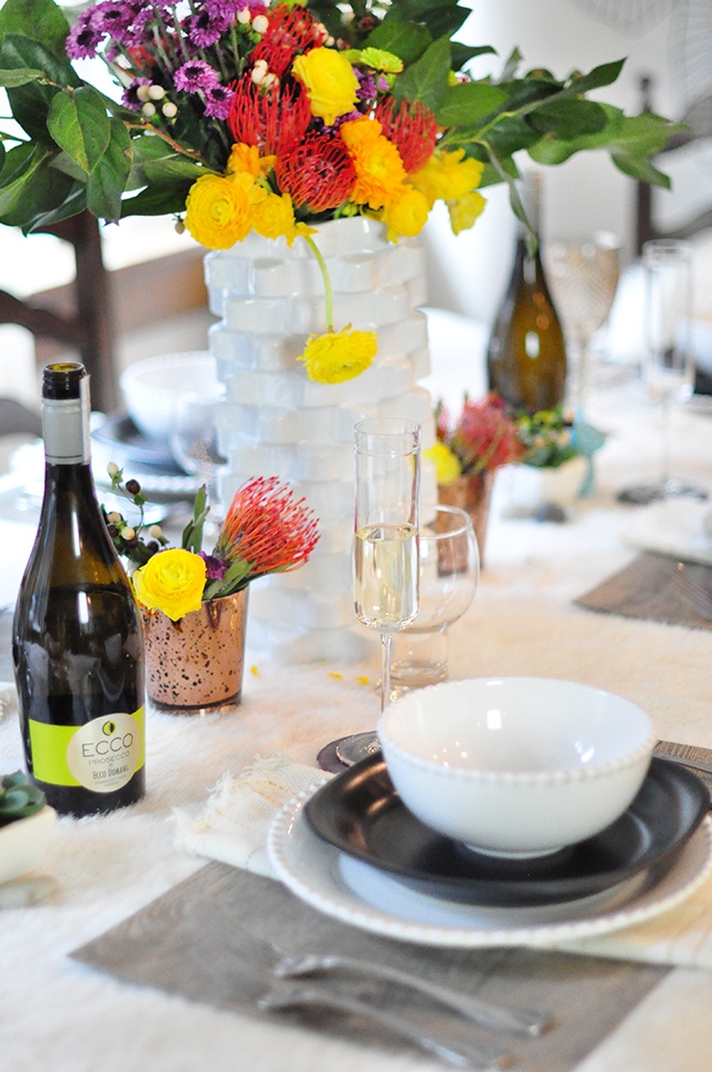 Wildflowers tablescape_mixed textures