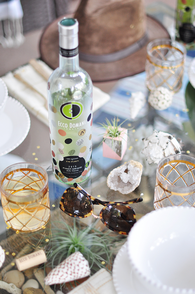 Zac Posen Ecco Domani 2016 Wine Bottle Pinot Grigio_summer table