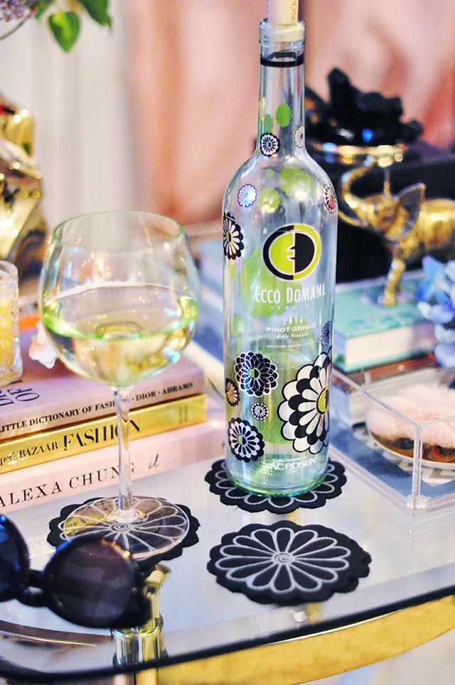Zac Posen Ecco Domani Wine Bottle_Flower Coasters_1
