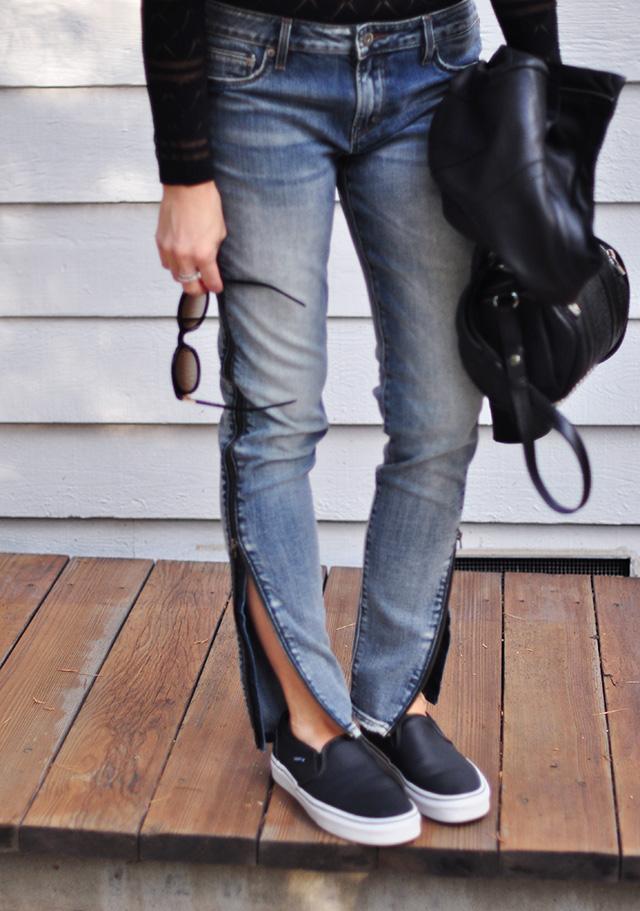 Zip up the side jeans_vans