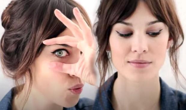 alexa chung makeup cateye eyeko