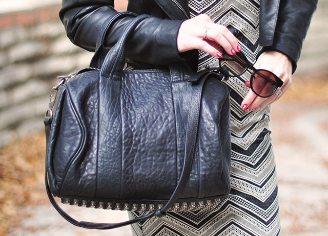 alexander wang bag+thierry lasry sunglasses