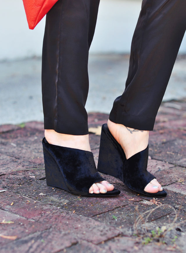 alexander wang wedge mules