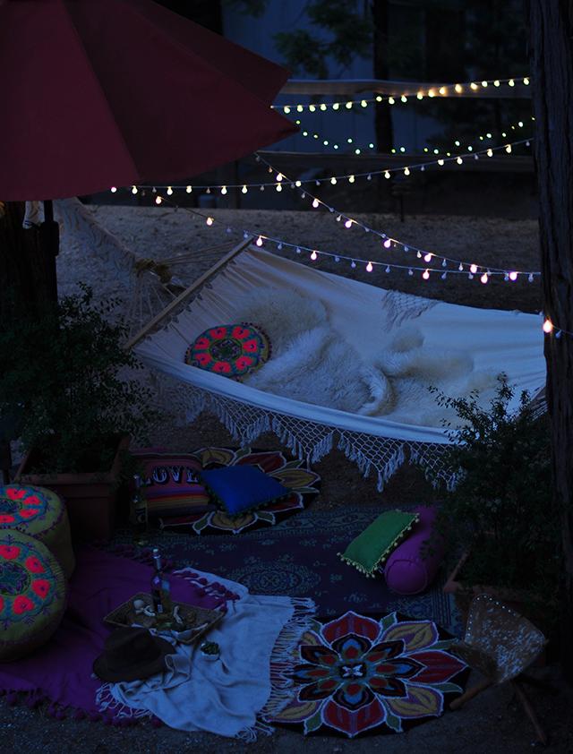 backyard hammock party
