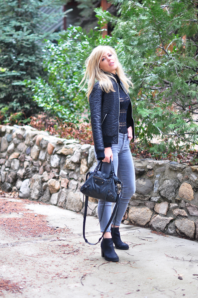 balenciaga classic town bag_leather bomber jacket