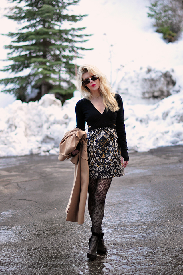 ballet-wrap-sweater-over-mini-dress-_ankle-bow-heels