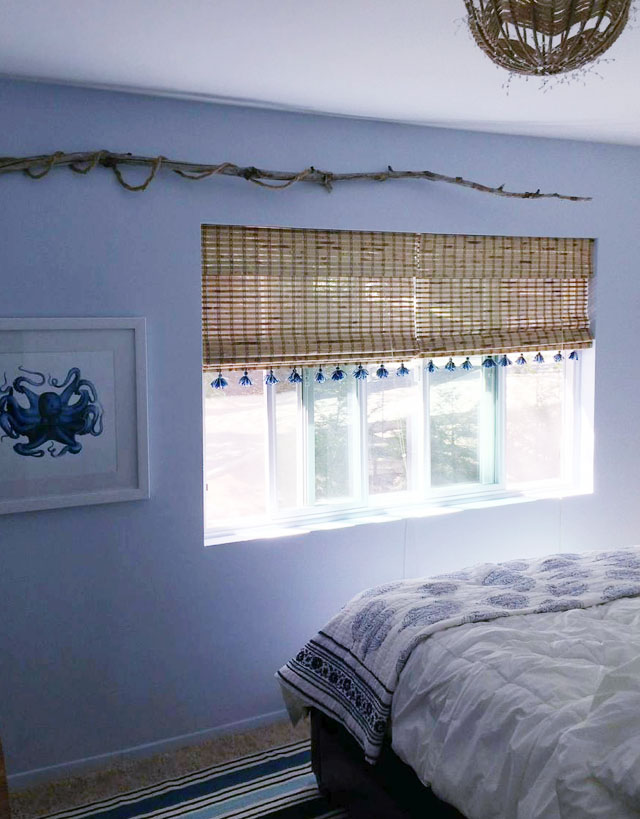 beachy guest room-tassels on shades