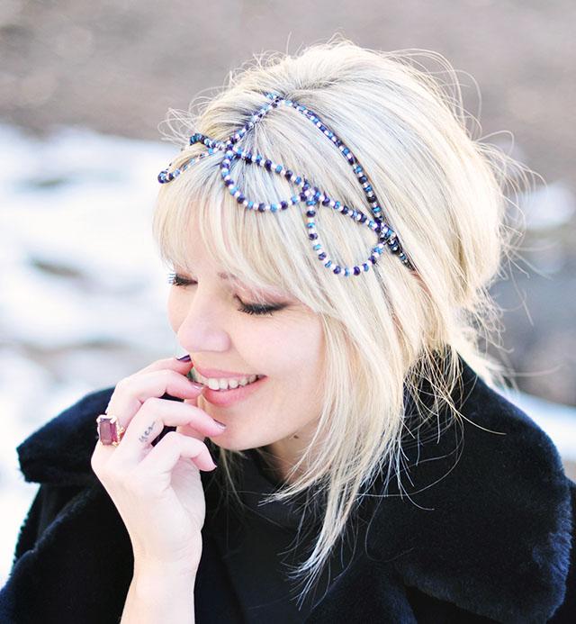 beaded headband crown DIY