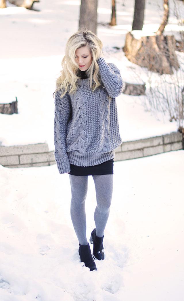 big sweater tinyskirt