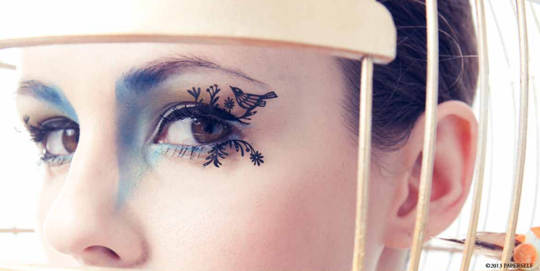 bird paper eyelashes