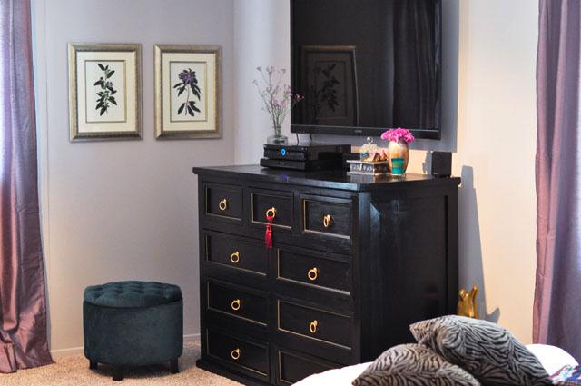 black and gold dresser diy