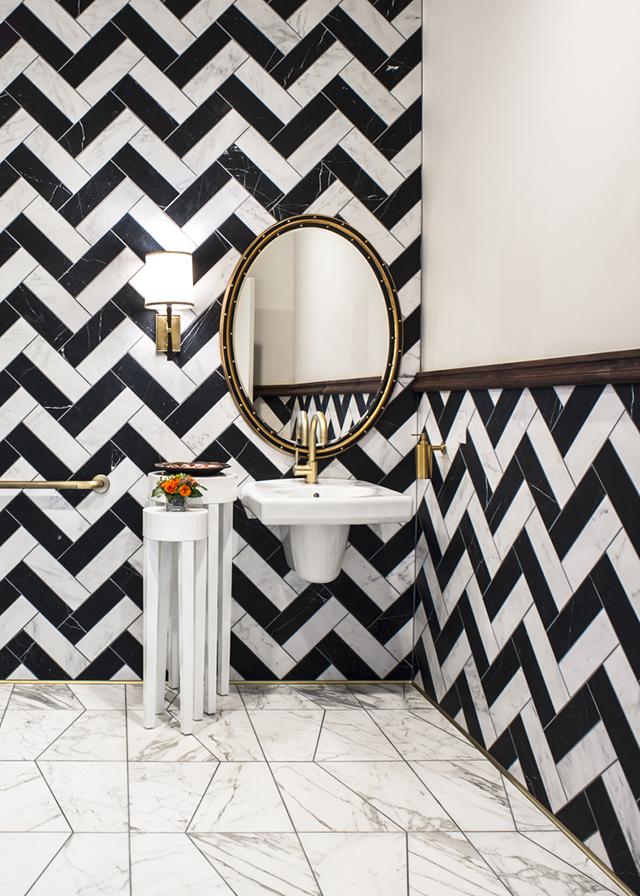 black and white chevron tile design_FORMLA