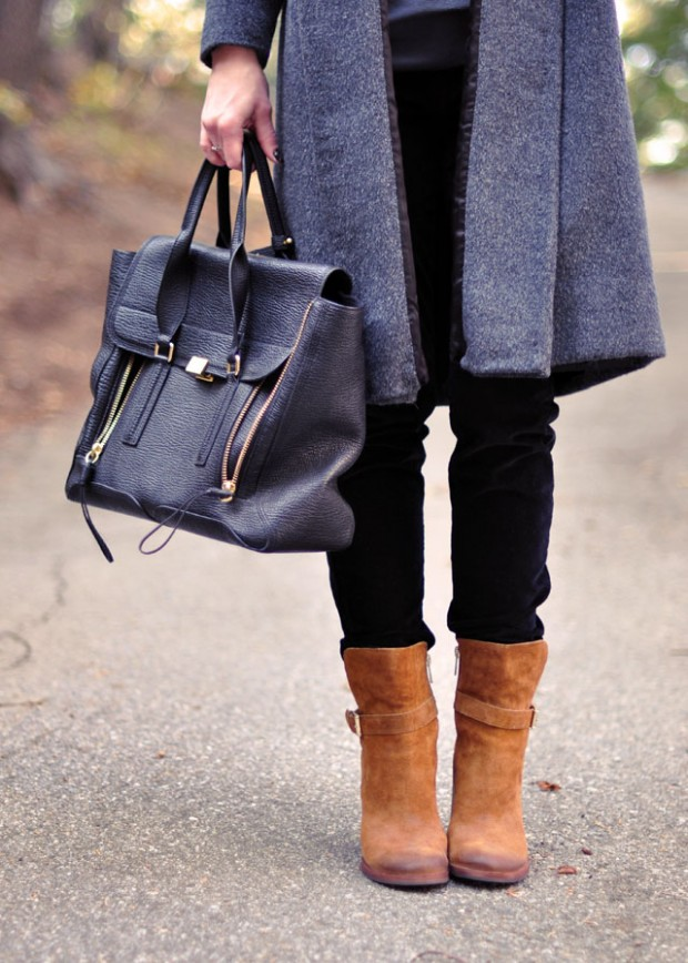 black brown gray outfit