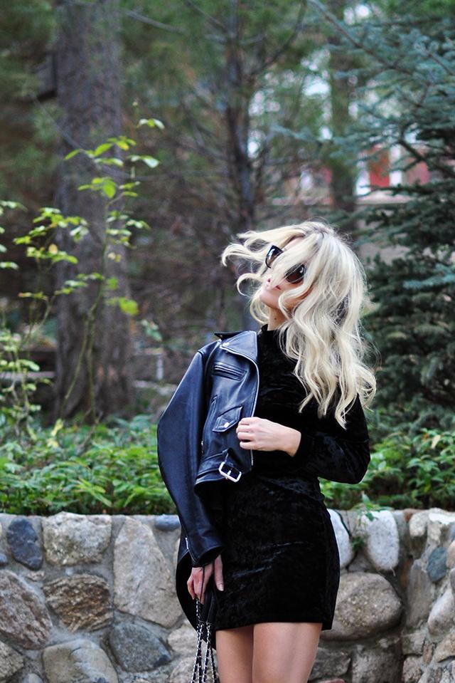 black-crushed-velvet-dress_biker-jacket