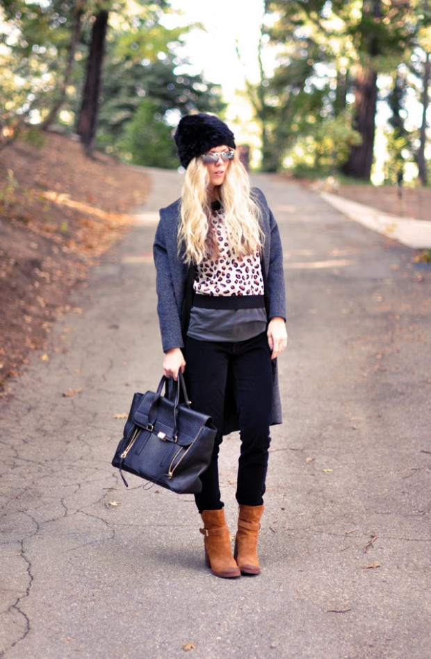 black gray brown outfit