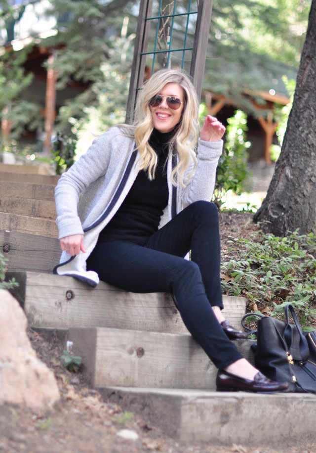 black on black with cardigan-easy style
