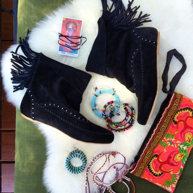 boho boots and accessories