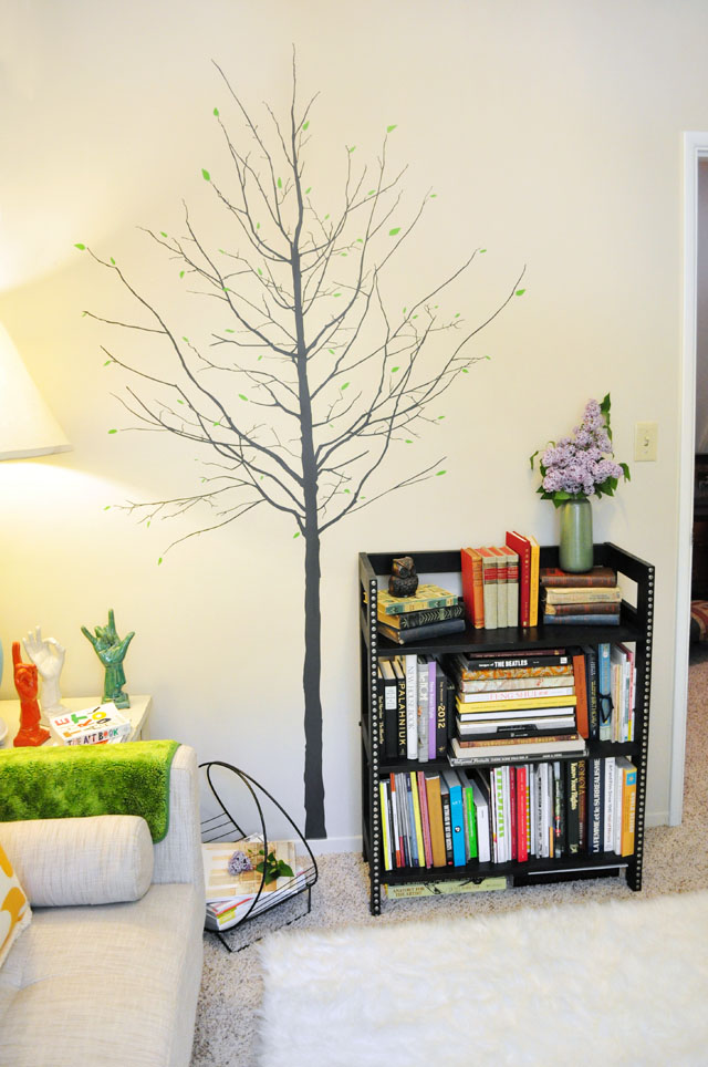 branchy tree wall decal-reading room decor