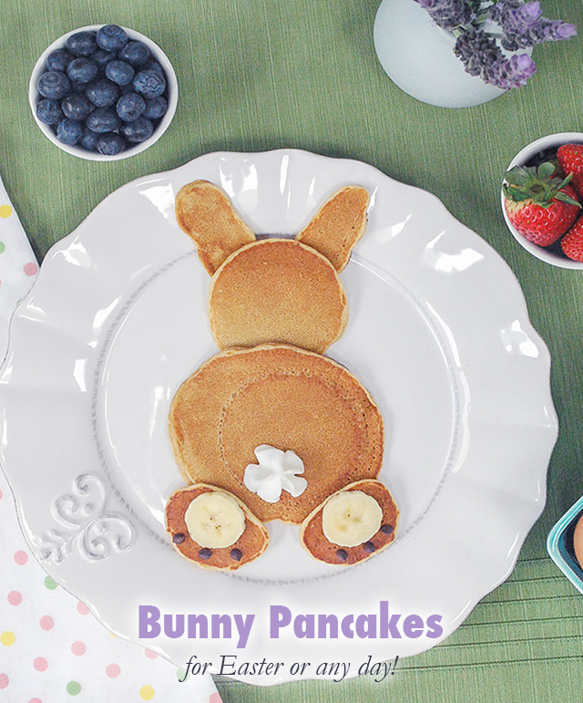 bunny pancakes for easter_3, how to make cute bunny rabbit pankcakes for easter