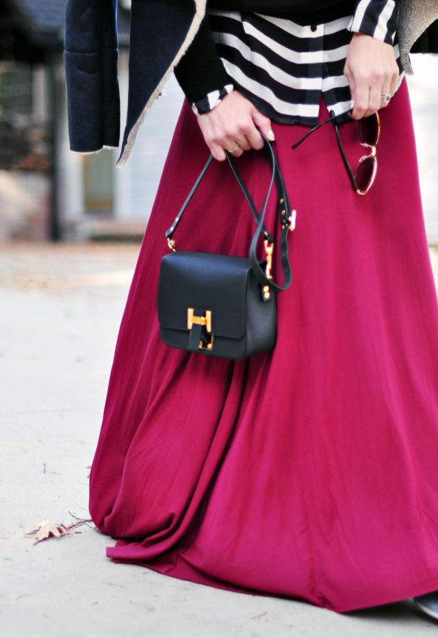 burgundy and black-sohie hulme bag