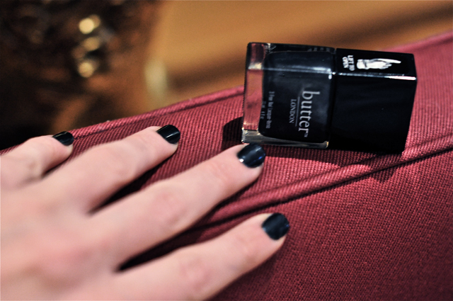 butter london - black pearl nails tutorial