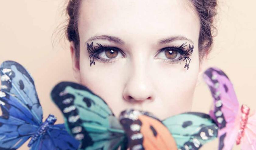 Ресницы бабочки фото
