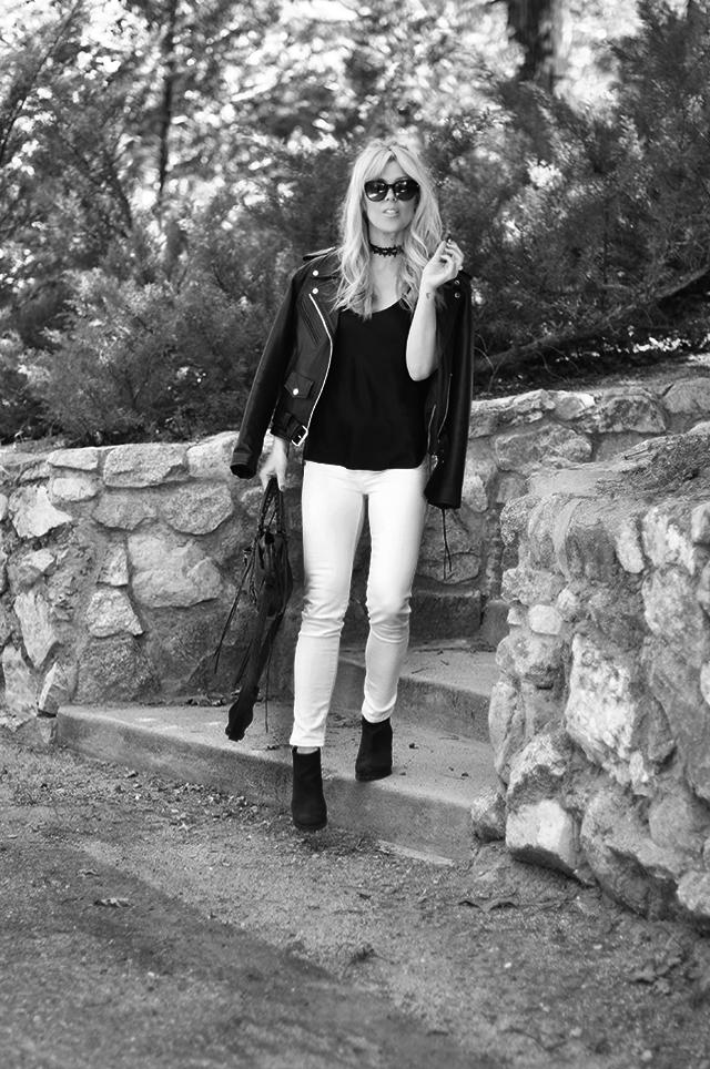 bw 1-white jeans_black top_black leather biker jacket_balenciaga bag