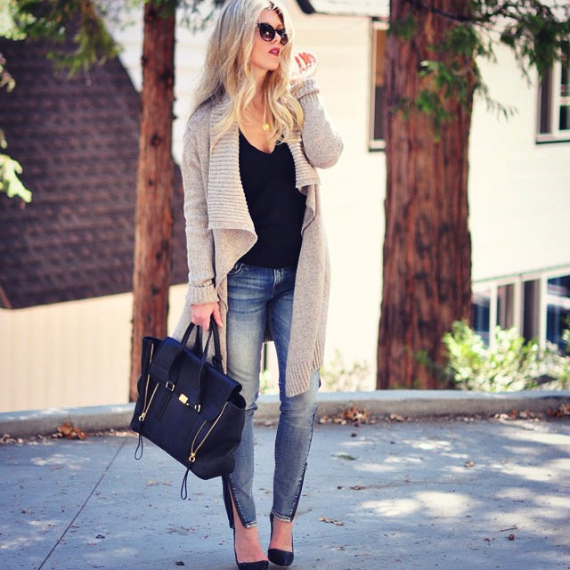 casual cozy chic outfit