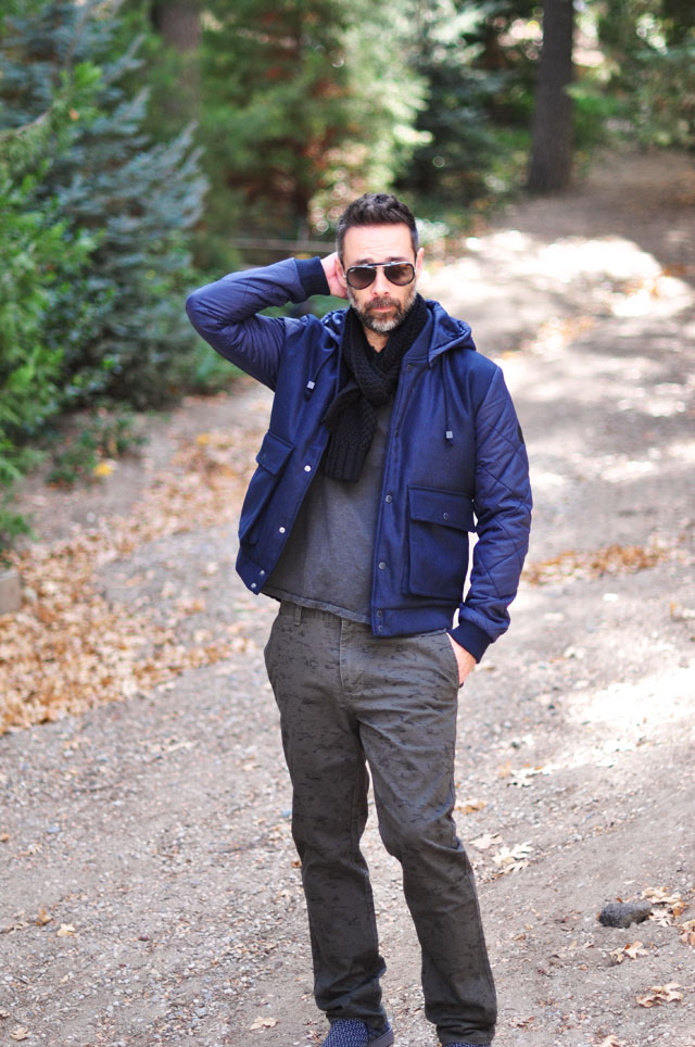 casual menswear style-gray and blue