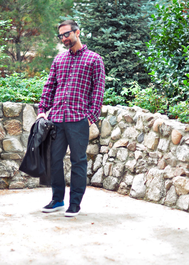 casual menswear style-plaid shirt