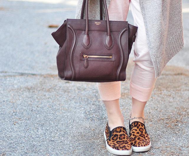 celine luggage tote bag_leopard sneakers