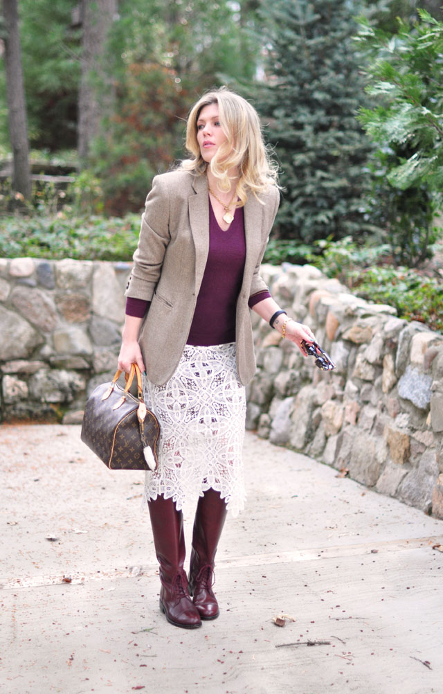classic equestrian with lace skirt twist