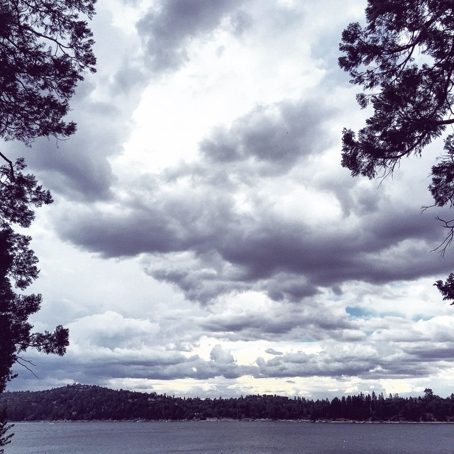 clouds over the lake