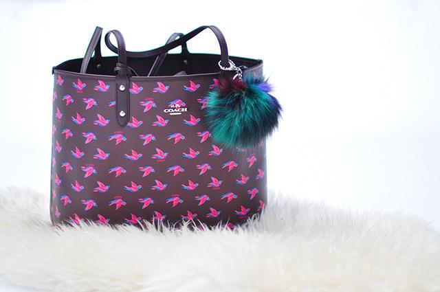coach tote bag with bird print