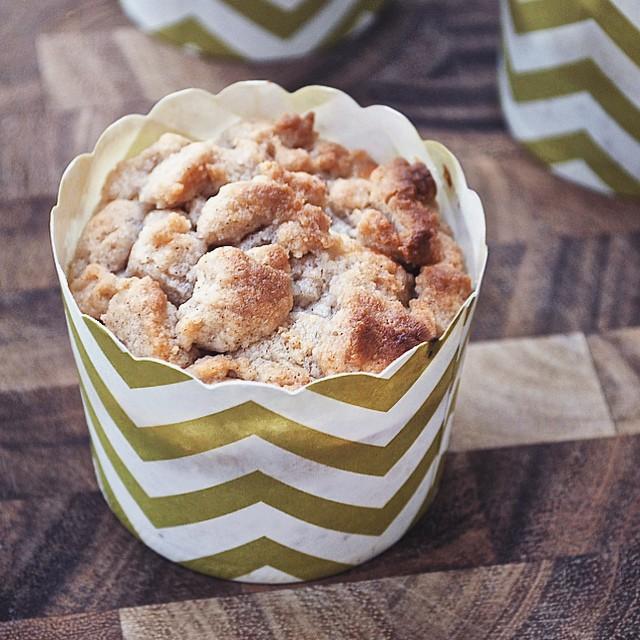 coffee cake crumble muffins