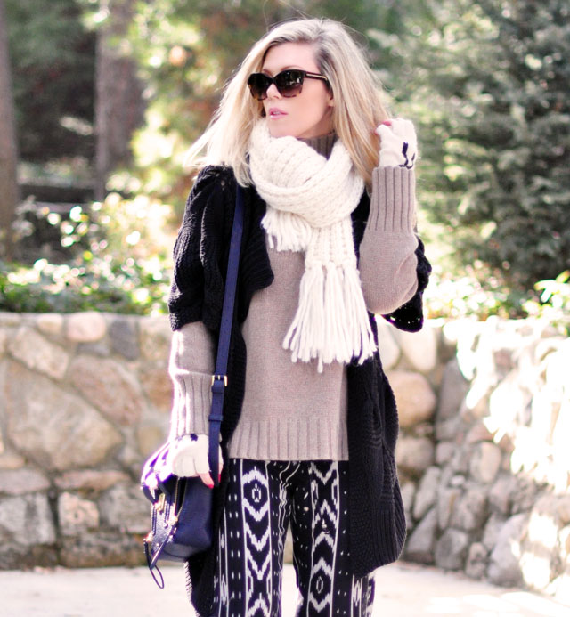 cozy winter style-layered knits