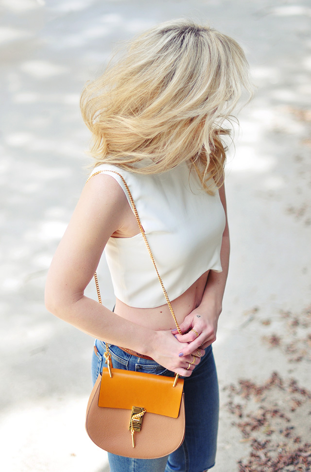 crop top and jeans