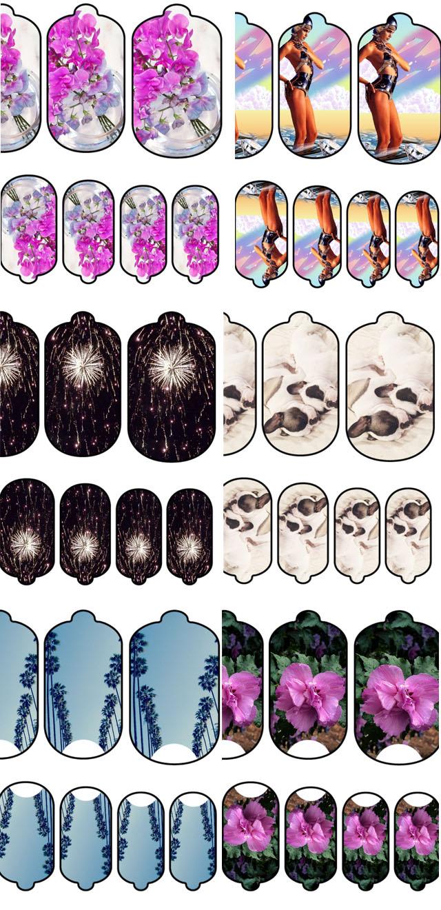 custom nail art wraps by my ncla-5