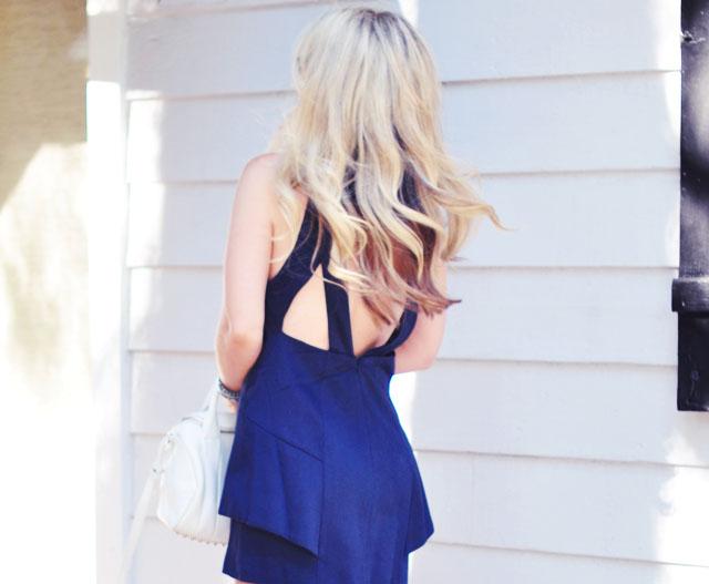 cut out back dress+ hair