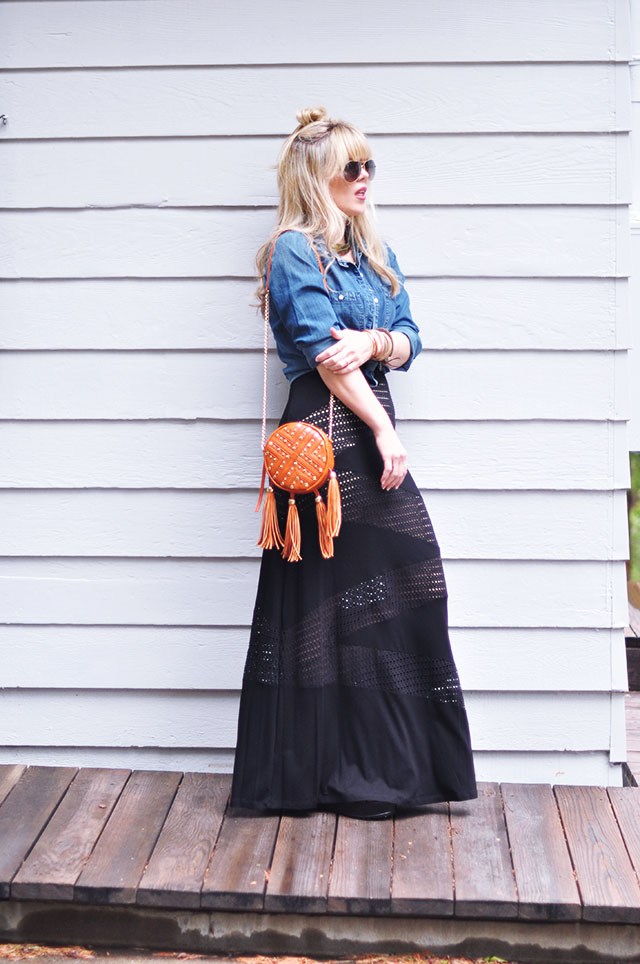 cut out black maxi dress for summer
