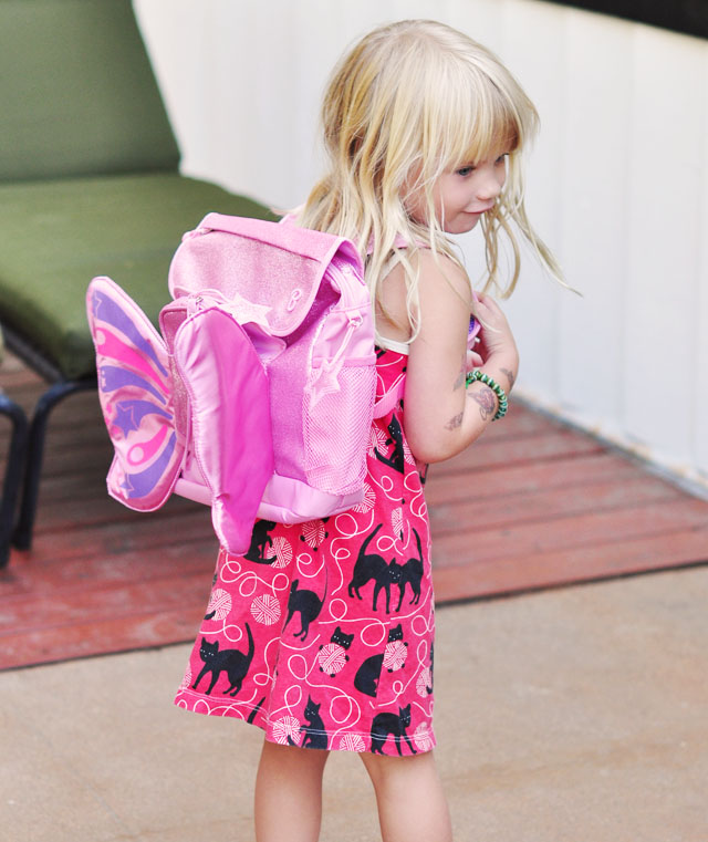 cute butterfly backpack for girls