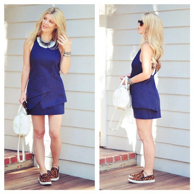 cute dress with sneakers