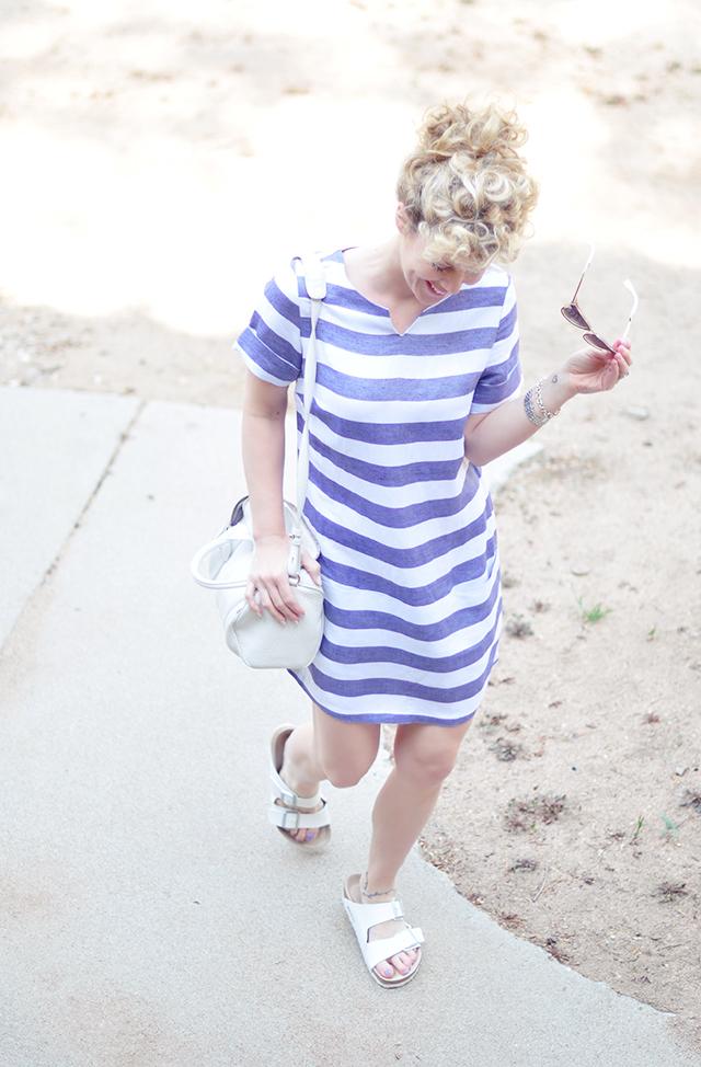 cute striped summer shift dress
